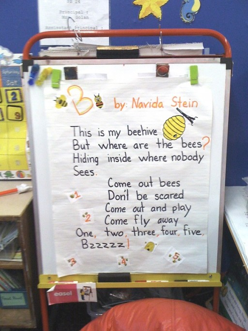 This is my beehive posted in the classroom AdjSm